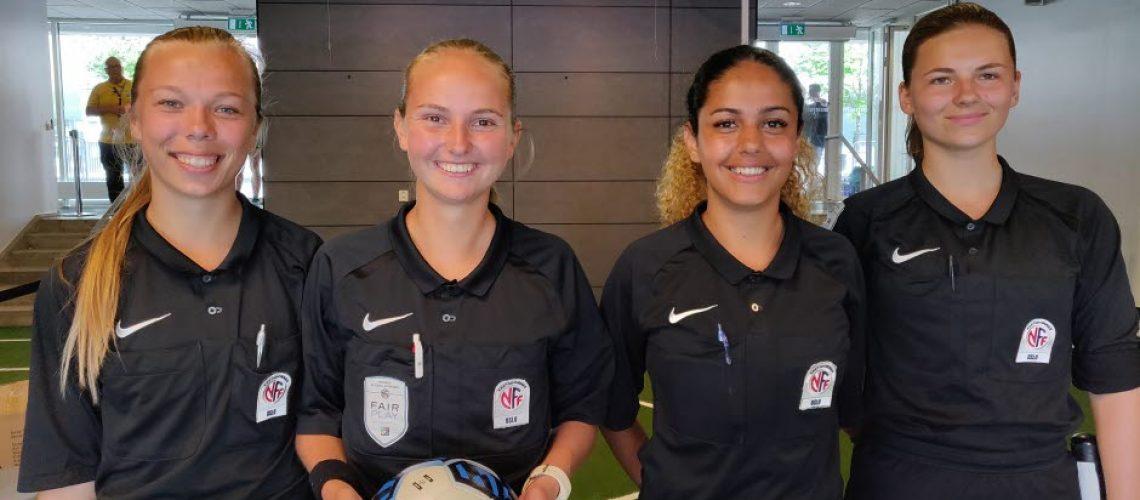 F.V: Ane, Marit, Maliha og Jennifer klare for Finale under Gothia Cup 2018 | Foto: Bjørn Andre Hansen / NFF Oslo